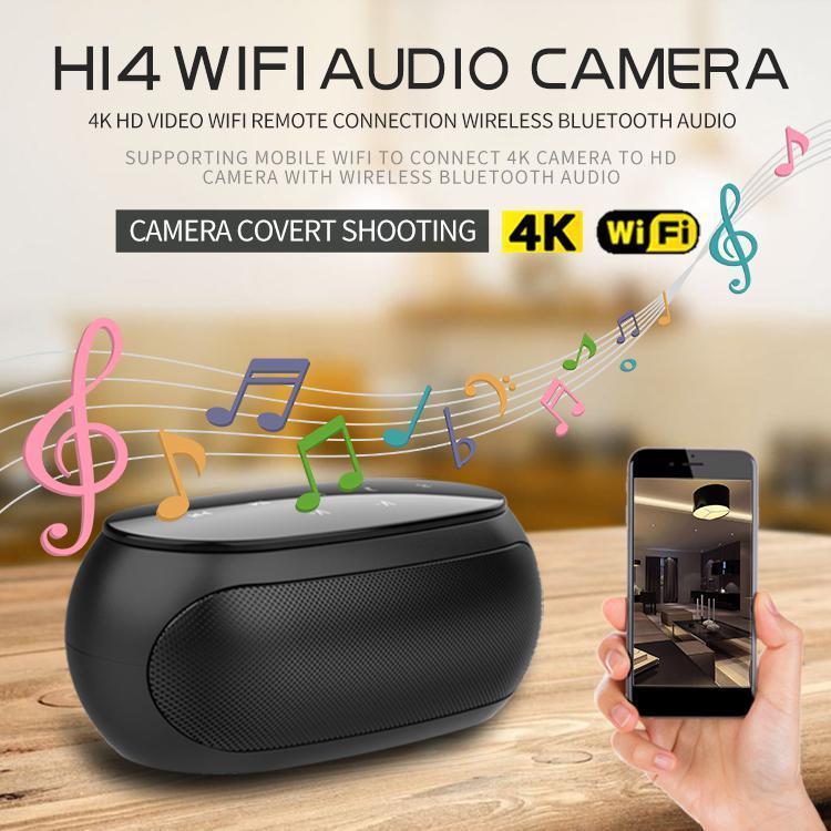 H14 HD 4K Мини-камера Wi-Fi IP-видеокамера с ночным видением Беспроводной IR Bluetooth портативный открытый динамик Loop Alarm Video Cam