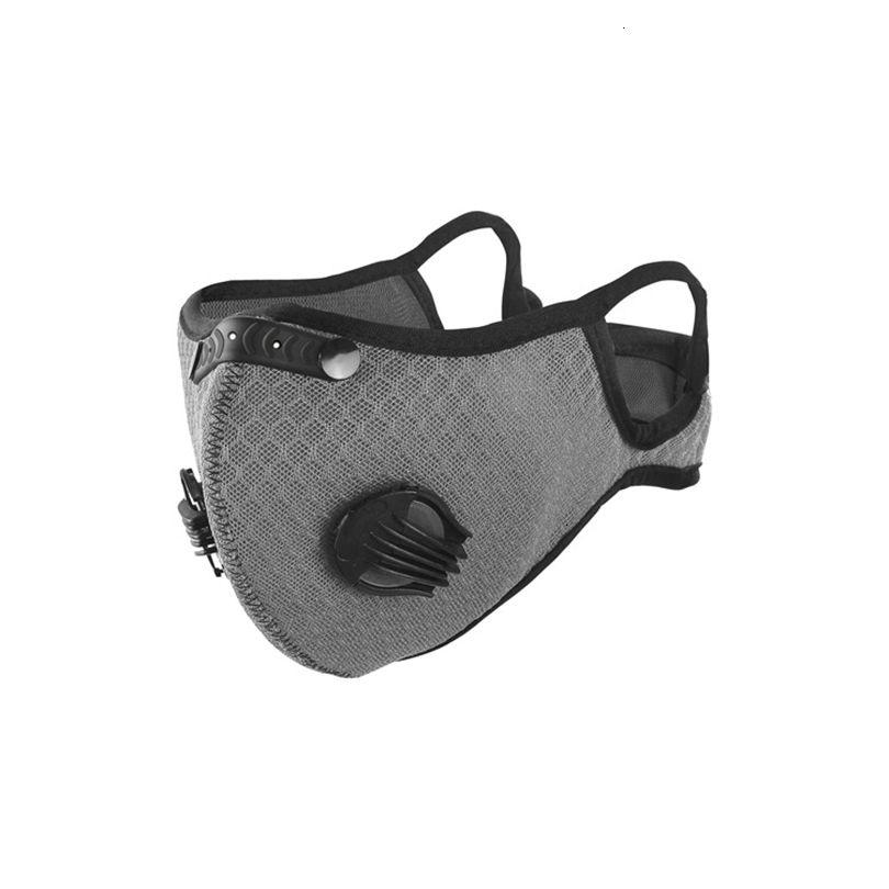 Spor 7 Stil Valf Mesh Solunum Bisiklet Yüzü Sürme Maskeleri PM2.5 Anti-Toz Kirliliği Maskesi Aktif Karbon Filtre