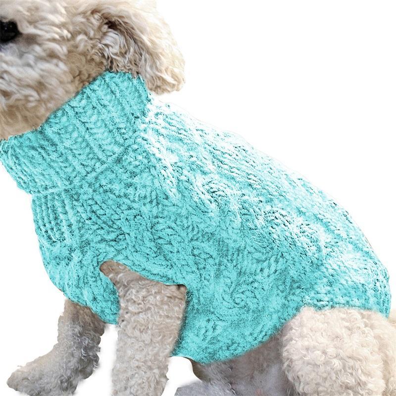 양모 니트 개 코트 옷깃 솔리드 컬러 애완 동물 스웨터 따뜻한 강아지 풀오버 옷 액세서리 패션 가을 겨울 뜨거운 판매 8 9my G2