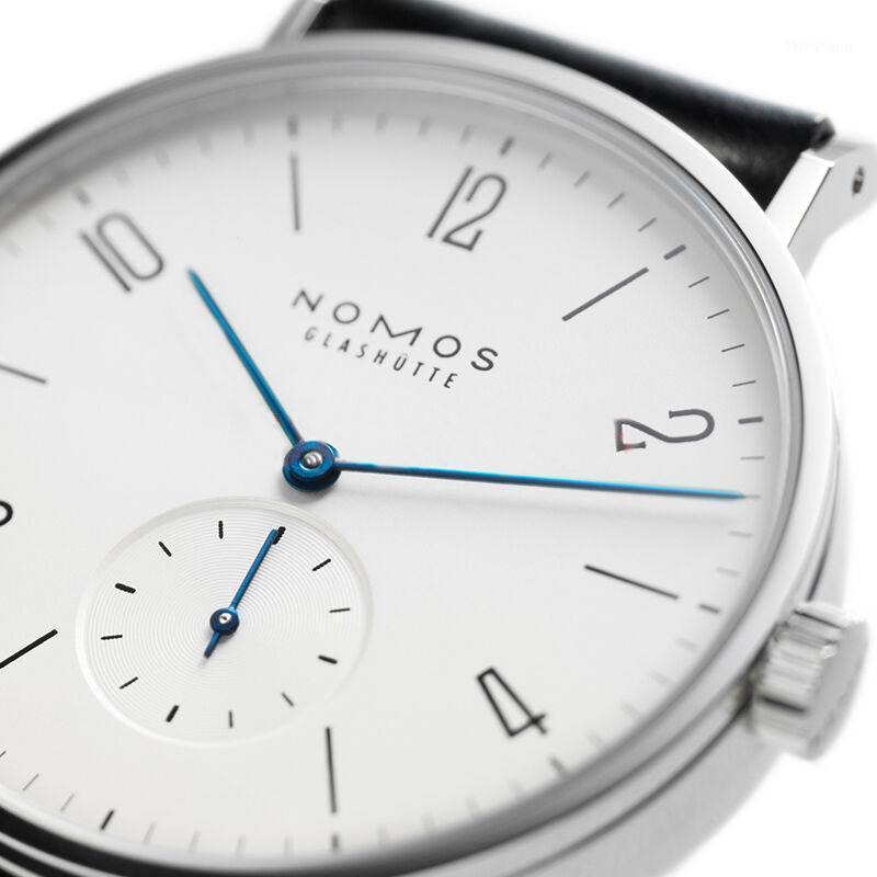 Saatı Toptan-Kadın Saatler Marka Nomos Erkekler Ve Minimalist Tasarım Deri Kayış Moda Basit Kuvars Suya Dayanıklı Saatler1
