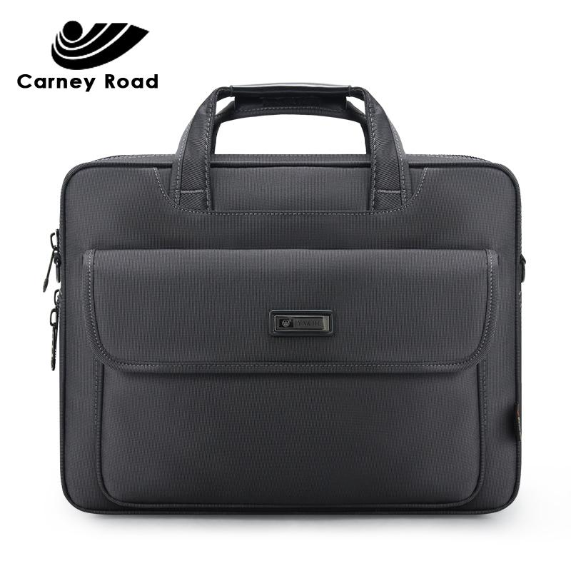 Brand Waterproof Oxford 15.6 inch Laptop Business Men Briefcase Bag Large Capacity Shoulder Tote Bags Casual Q0112