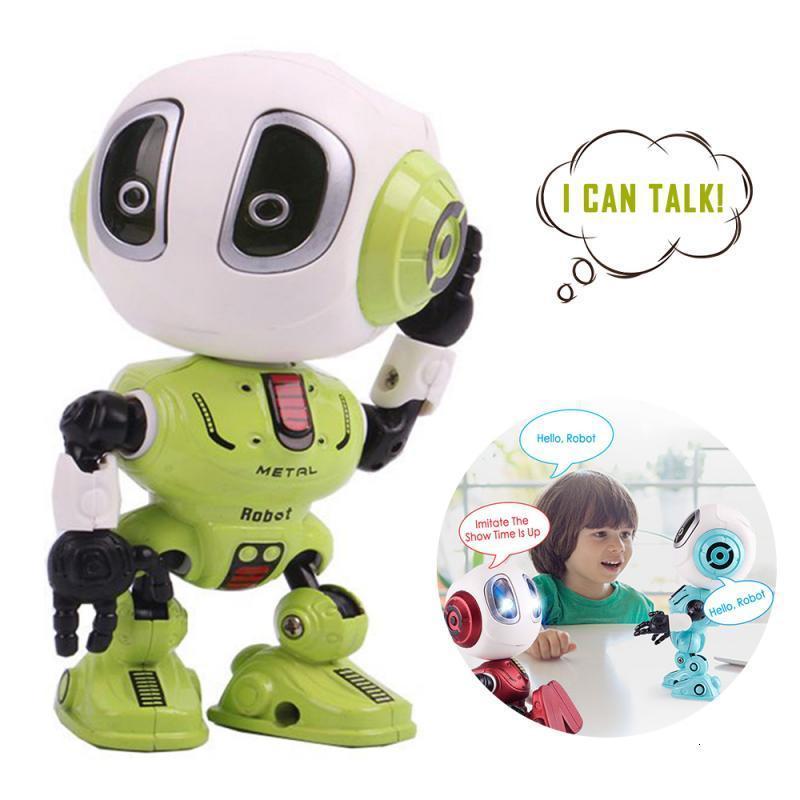 Смарт Talking сплав Робот Электронной игрушки Kid Xmas подарков DIY Жест сенсорный датчик светодиодного электронная Съемный сплав Робот 15x10x5.5CM