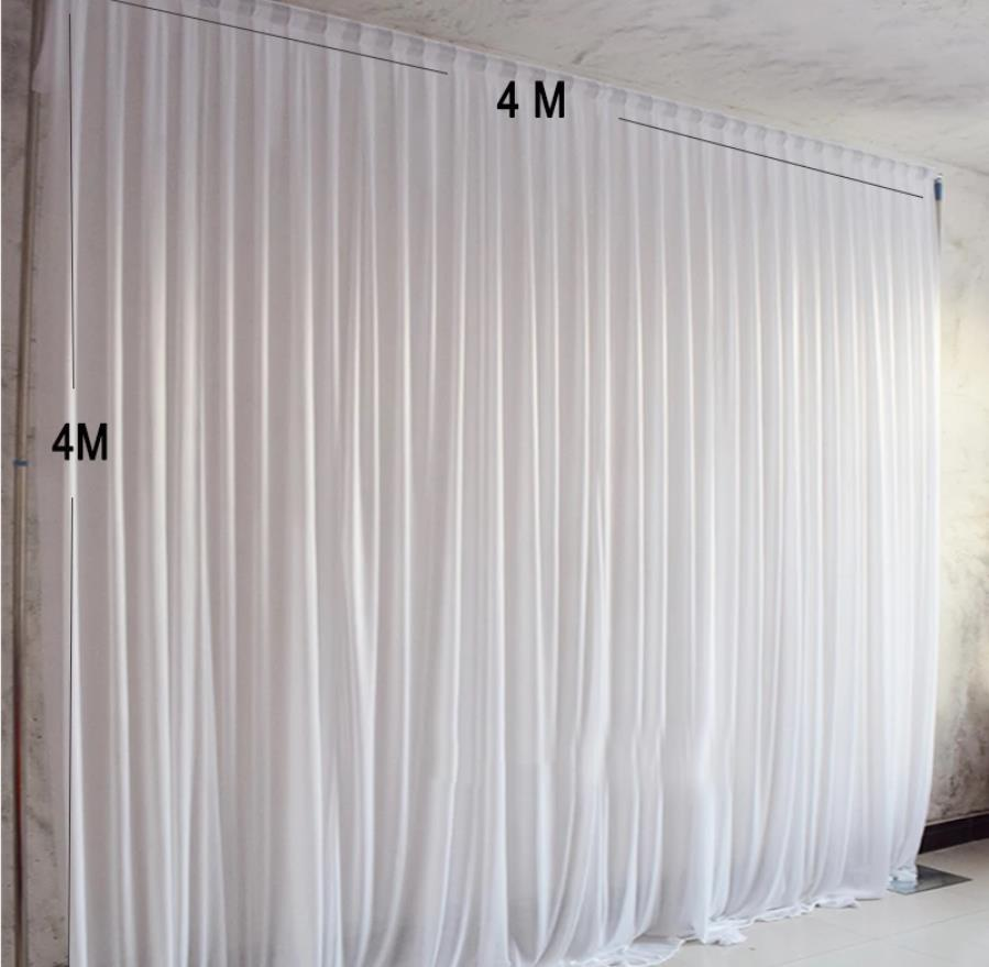 4x4M Ice silk fabric drapes panels hanging party backdrop curtains wedding decoration drape events background cloth for stage