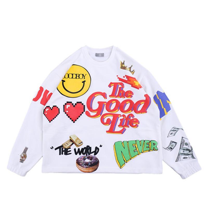 2021 Nova impressão de formação de espuma Goodboy Xoxogoodboy Camisolas Mulheres Streetwear Crewneck Moda Hoodie Homens Xuij
