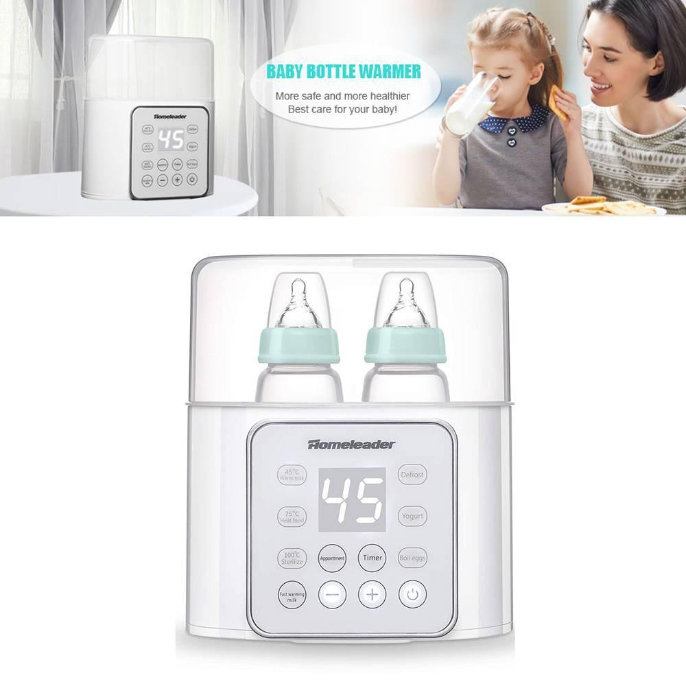 6-in-1 Baby Bottle Warmer Double Bottle Breast Milk Warmer Baby Food Heater