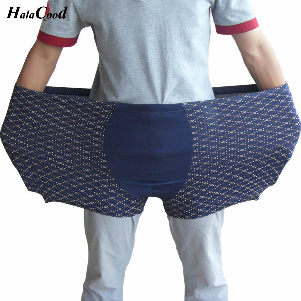 Quatre points de suture / lot Nouveaux hommes Sexy Hommes Boxer Culotte mâle Culotte MR Sous-gardus Graisse Plus grande taille Sous-vêtement