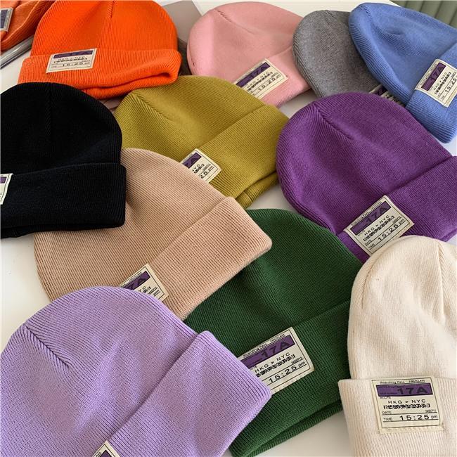2020 Chapéus de Inverno para mulheres Beanie Cap Unisex Crânio Cuffed Plain Beanie Crânio Caps Hat Knit
