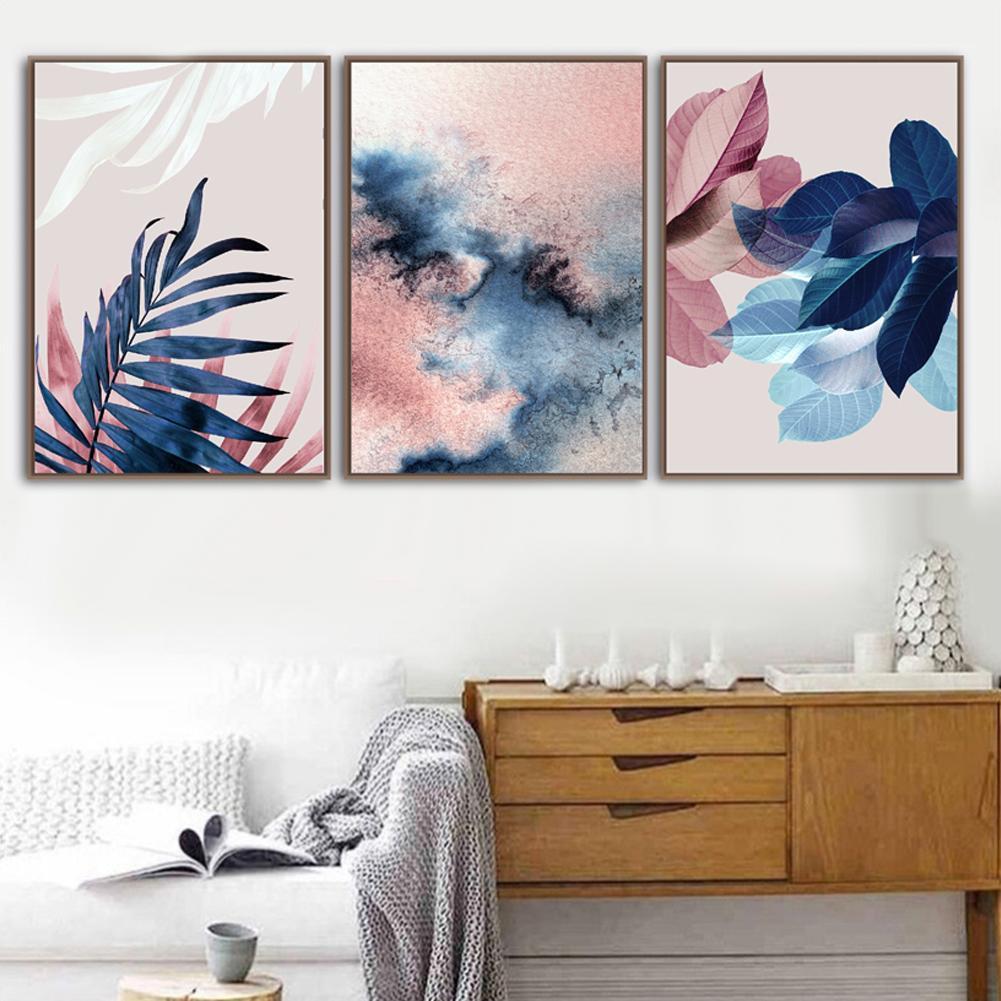Folhas Pintura de lona sem moldura de arte de parede imprime cartazes e imprime imagens de parede para decoração de decoração da sala de estar