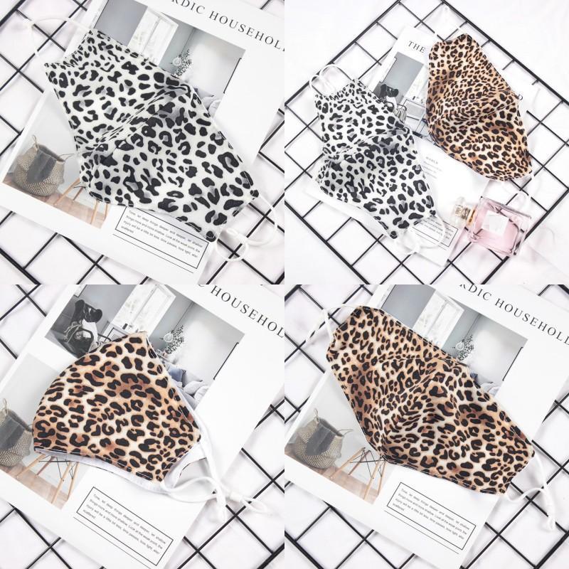 Mode Leopard Druck Gesichtsmaske Erwachsene Staubdichte Masken Waschbare Wiederverwendbare Mundmasken Unisex Radfahren Designer Maske Cyz2592 56 J2