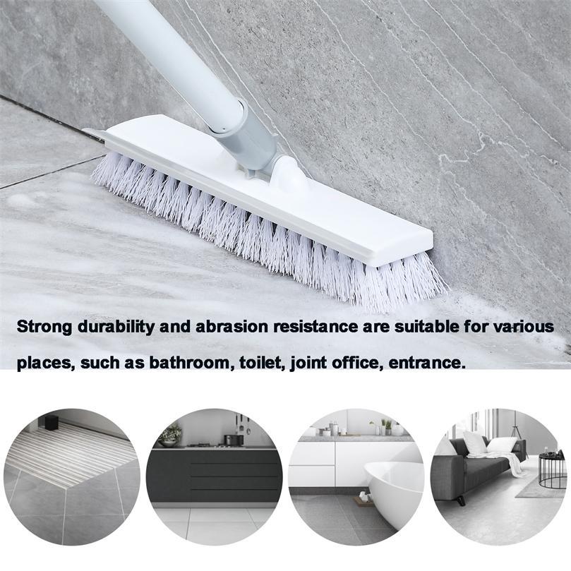 """Escova de assoalho Escova de pincel com 50 """"Metal Ajustável Metal Longo Scrubber com cerdas rígidas para limpeza de telha 201214"""