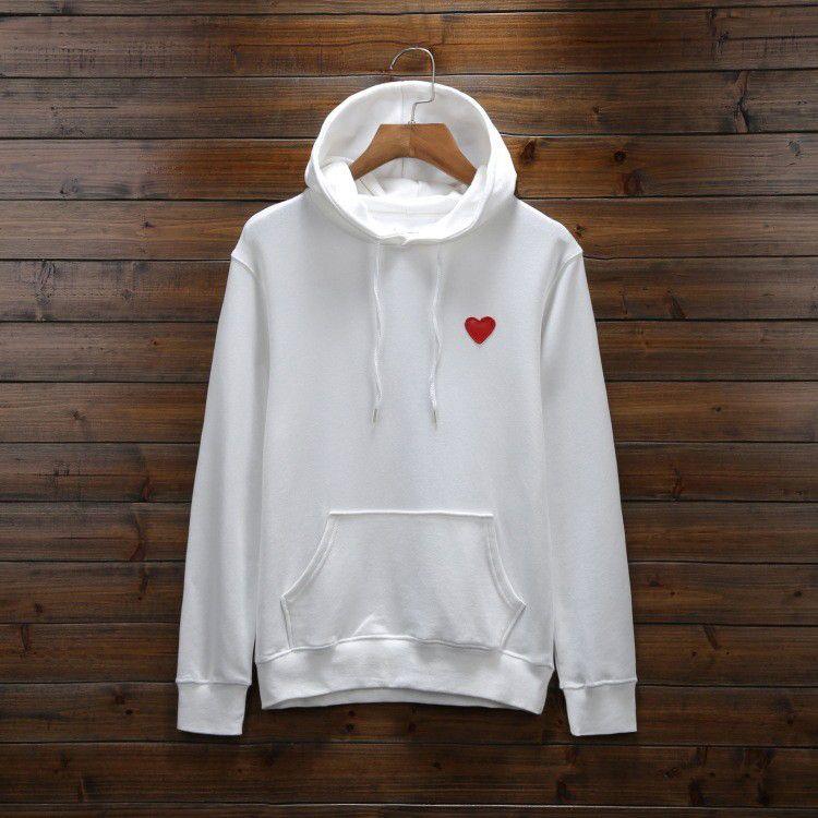 브랜드 후드 남자 가을 망 까마귀 스웨터 루스 스타일 패션 조류 겨울 코트 풀오버 옴므의 의류 심장 자수 S-3XL