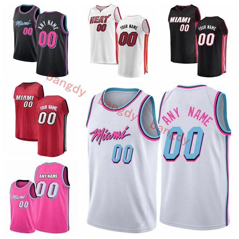2021 مخصص الرجال النساء الاطفال مياميالحرارةارتدادJerseys Dwyane 3 Wade Tyler 14 Herro Jimmy 22 Butler كرة السلة جيرسي الأسود