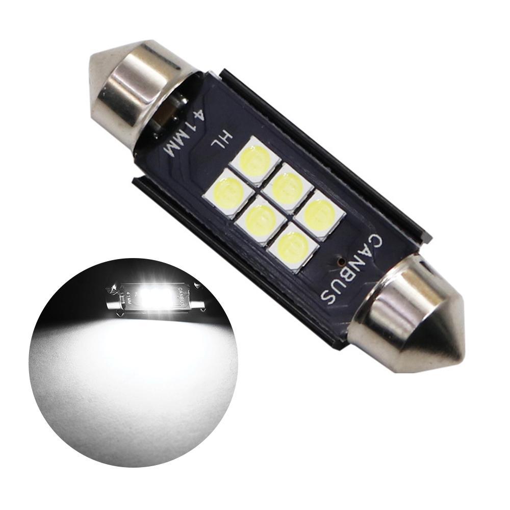 24 V CANBUS C5W LED Ampuller 41mm Süper Parlak 3030 Canbus Hatası Ücretsiz Oto İç Doom Lamba Araba Okuma Işıkları