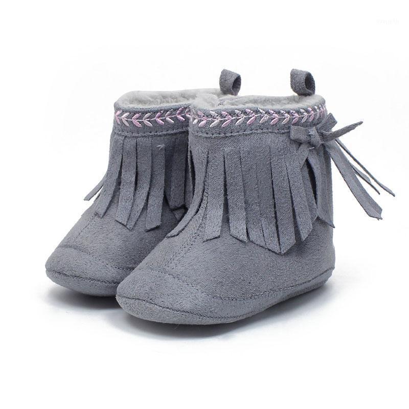 0-1 Jahre Neugeborene Babyschuhe Einzigartige Quaste Stil Design Baby Stiefel Warme Winter Neuer Heißer Verkauf Kleinkind Weiche Mädchen Stiefel1