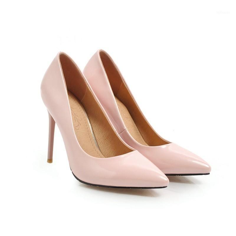 Artı Boyutu Sivri Stiletto Ayakkabı Bayanlar Yüksek Topuklu Kadın Ayakkabı Kadın Pompalar1