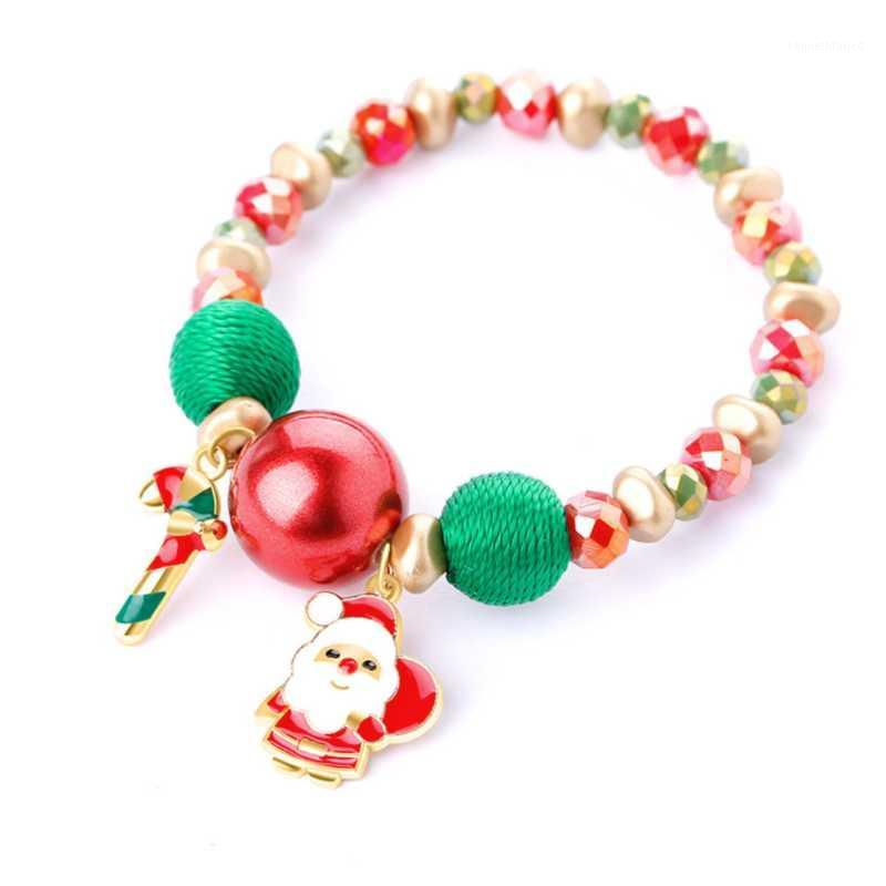 2020 New Hot Chirsmas Regalo Padre Natale Santa Claus Snowman Braccialetto di caramelle per bambini donna ragazza1