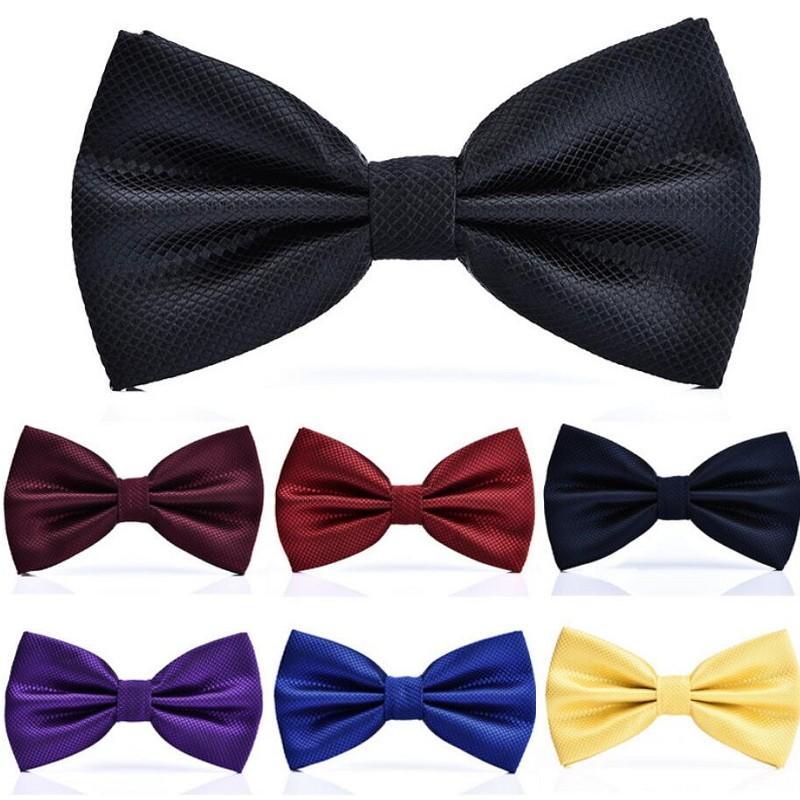 Moda gravata para homens camisa de vestido novo adulto bowtie cheque bowknot festa de casamento gravatas acessório 2 pcs / lote