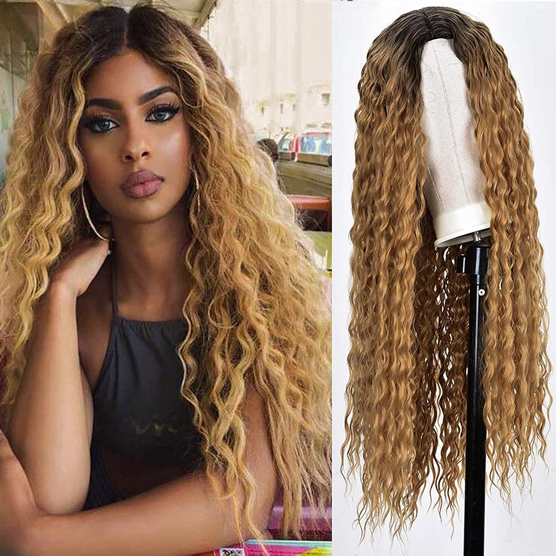 Frente del cordón entero ombre Resalte peluca Brown Honey Blonde rizado de color HD pelucas de pelo humano recto de 360 encaje frontal de la peluca de Remy