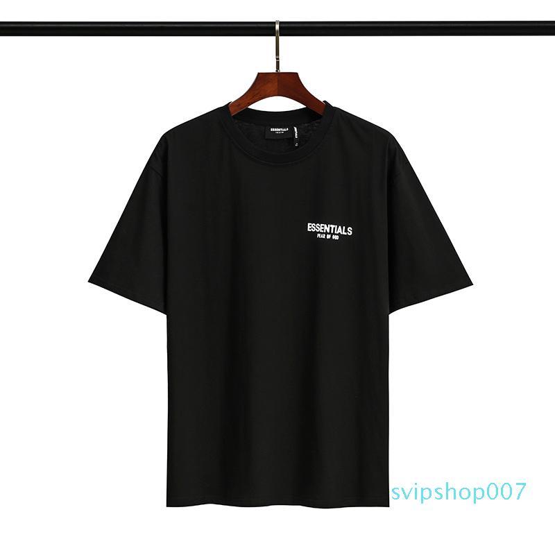 # 136 de deus imprimir mulheres manga top qualidade medo moda t-shirt Curto homens Tees marca designer nevoeiro chq chqen
