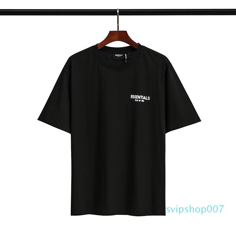 Ärmel Mode Qualität Nebelgott Kurz Top Brand Designer Frauen T-Shirt Owqek Print Angst Männer Tees # 136 von nibgm