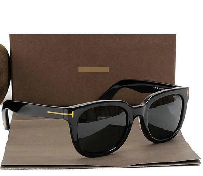 2020 Top Big Qualtiy New Fashion 211 Tom Brown Gafas de sol para hombre Mujer Erika Eyewear Ford Designer Brand Gafas de sol con caja original 985