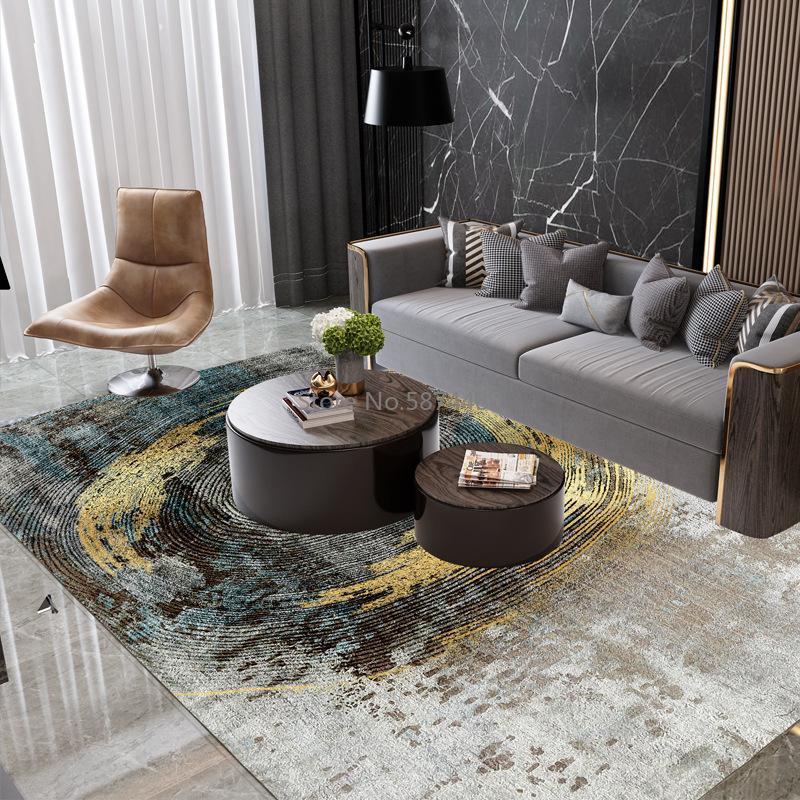 Alfombras escandinavo moderno minimalista sofá geométrico mesa de café manta americana dormitorio de noche dormitorio grande alfombra delgada lavable