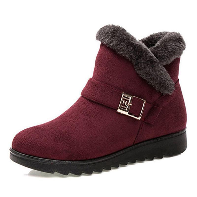 New Women Shoes Slip-on Women Botas Neve Peles Bota de Neve Feminina Sapatos de Inverno Botas de tornozelo para inverno Booties botas mujer