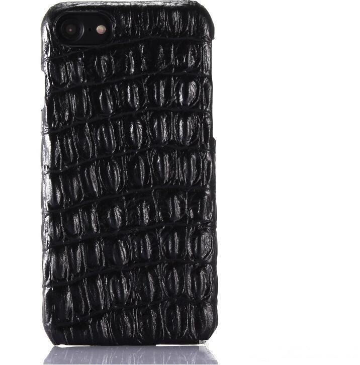 Caso de telefone de couro genuíno de luxo para iPhone 7 Plus 3D Crocodile Penher Pattern 6 6s Plus Capas de Telefone Celular Slim