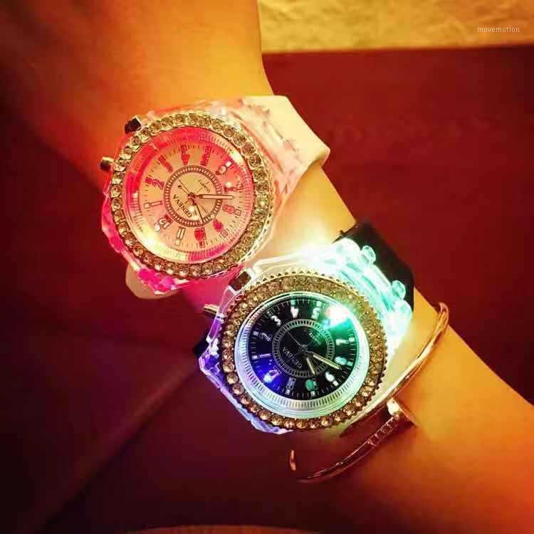 Relojes de muñeca casuales para mujeres LED Digital Deporte Reloj de pulsera Reloj de silicona Regalos de Navidad Relogio Masculino Hombre 20209 Relojes1