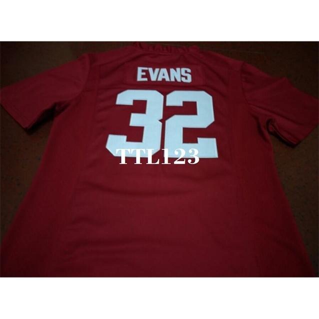Männer # 32 Rashaan Evans Alabama Crimson Tide Red Black White College Jersey oder benutzerdefinierte Neiner Name oder Nummer Jersey