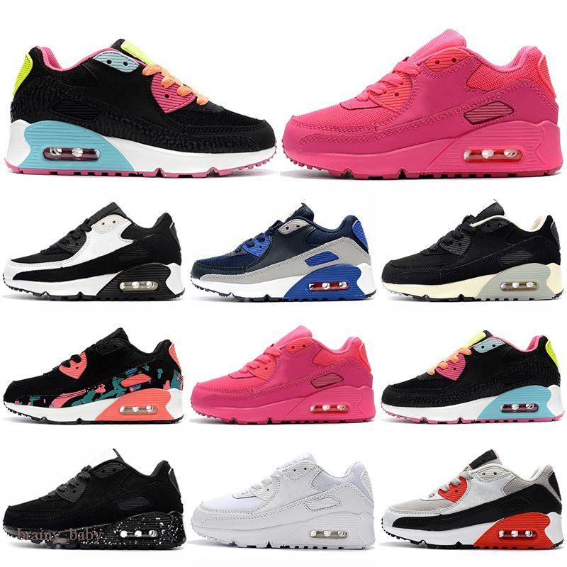 Nike Air Max 90 2021 Venta barata Kids Sneakers Presto 90 Zapato Niños Deportes Chaussures Pour Enfants Entrenadores Infant Girls Boys Boys Shoes