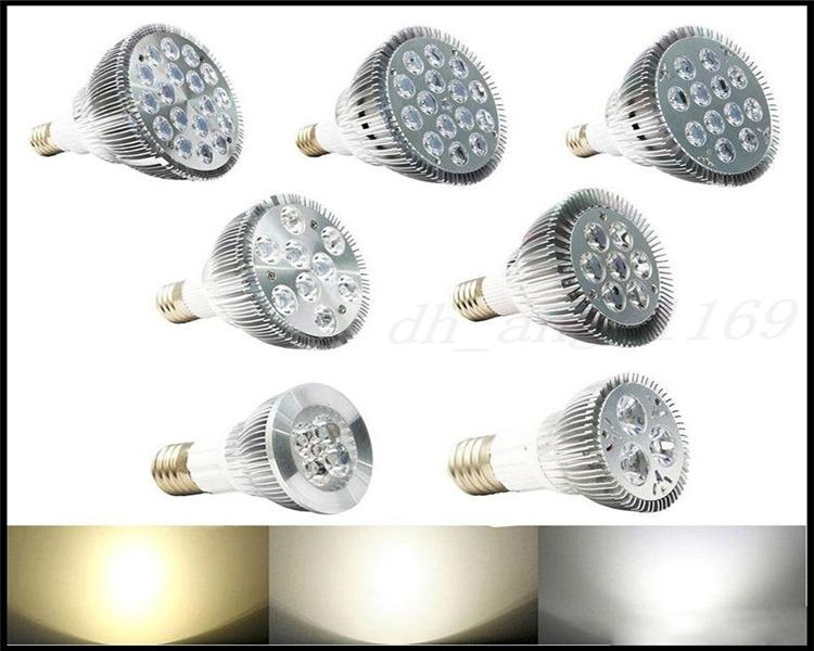 DHL LED 전구 PAR38 PAR30 PAR20 85-240V 9W 10W 14W 18W 24W 30W E27 PAR 20 30 38 LED 램프 LED 스포트 라이트 다운 라이트 무료 배송