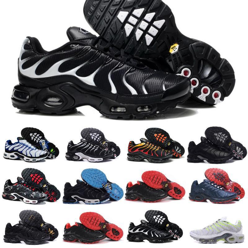 2021 Yüksek Kalite Erkek TN Koşu Ayakkabıları Hava Buharlı Artı TN Eğitmen Ucuz TNS Kırmızı Obsidiyen Derin Kraliyet Gerçek Chausues Olabilir