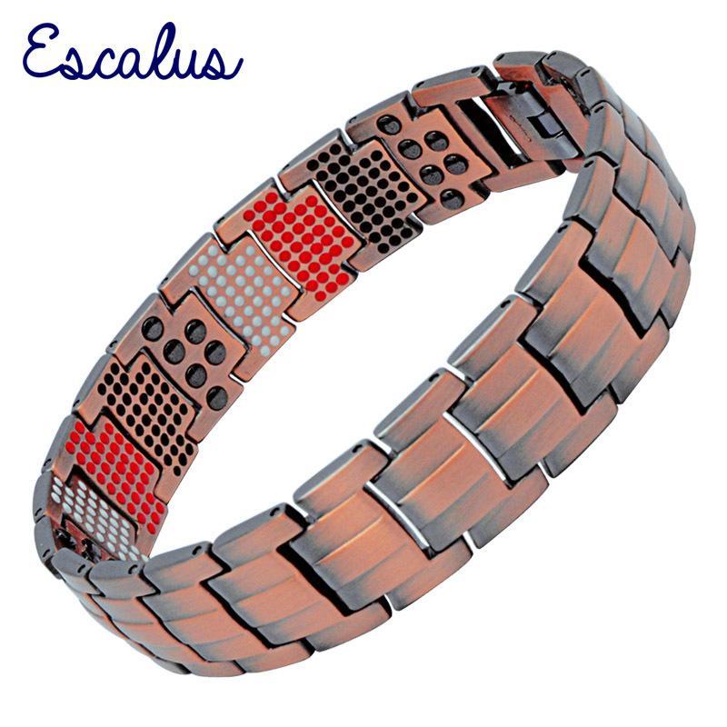 Escalus 2019 Reine Kupfer Magnetische Armband Trendy Zähigkeit Männer Schmuck Vintage Negative Ionen Germanium Charme Armband Y1126