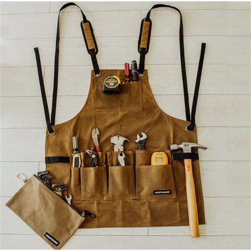 Öl über trockenes Nasswachs-Leinwand-Werkzeug Multi-Taschen-taktische Schürze
