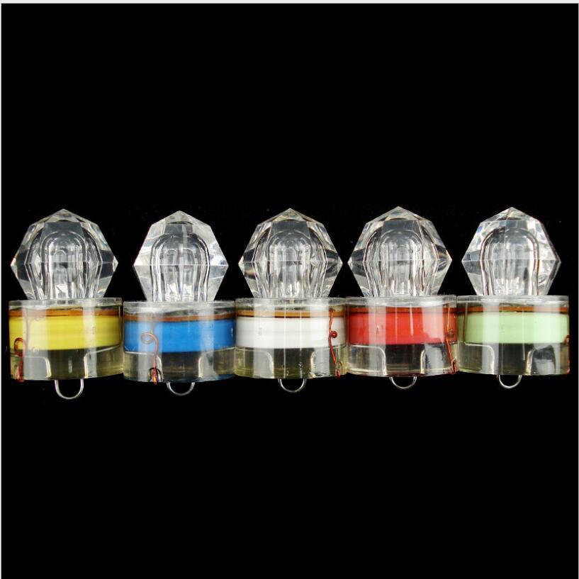 Tiefsee Diamant Licht locken Nachtangeln LED Fischköder Polyfische Unterwasserleuchte Wasserdichte Fischflechtgetriebe AHF3432