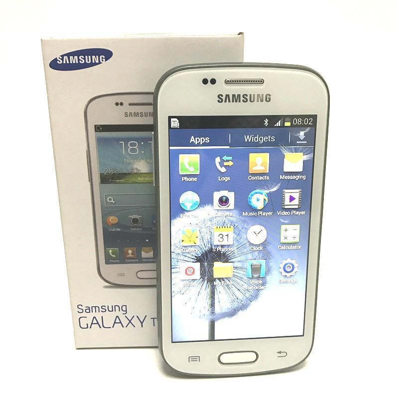 Orijinal Yenilenmiş Samsung S7572 Galaxy Trend Duos II GSM 3G A 4.0 inç Ekran Android 4.1 WiFi GPS Çift Çekirdekli Kilitli