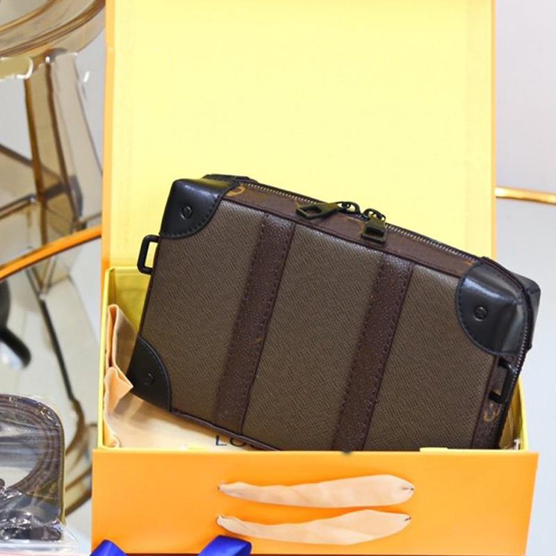 케이스 가방 여성 메신저 가방 핸드백 지갑 패션 레트로 소 가죽 정품 가죽 이동식 어깨 스트랩 편지 브라운 지퍼