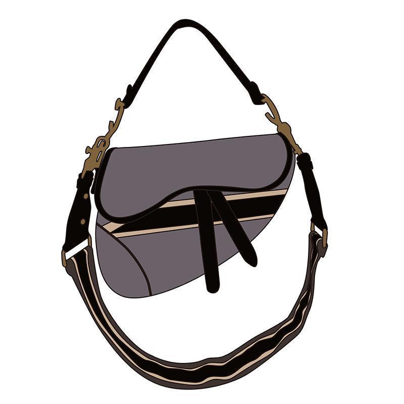 Trend Yüksek Kalite Cassic Bayanlar Cüzdan Çanta Moda El Işlemeli Çanta Katlanabilir Messenger Çanta Siyah Fannypack Çanta