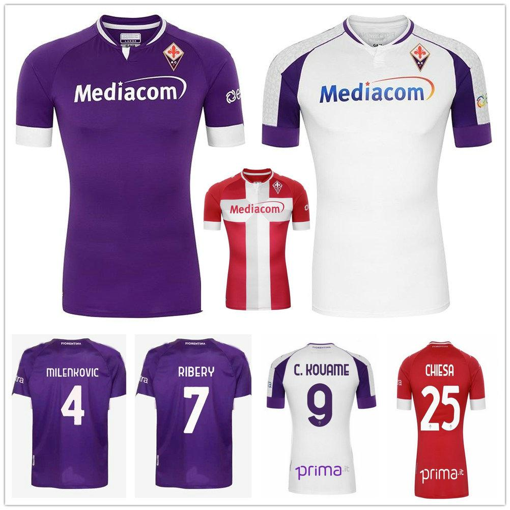 20 21 ACF Fiorentina Soccer Jersey RIBERY PRINCE CUTRONE SIMEONE PEZZELLA CHIESA Custom Home Away Third Adult and Kids Football Shirt