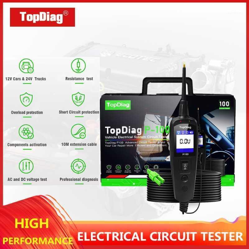 TOPDIAG Circuito de automóvil Probador 12V Herramienta de diagnóstico automotriz Sistema eléctrico Sonda P100 Voltaje automático y escáner actual1