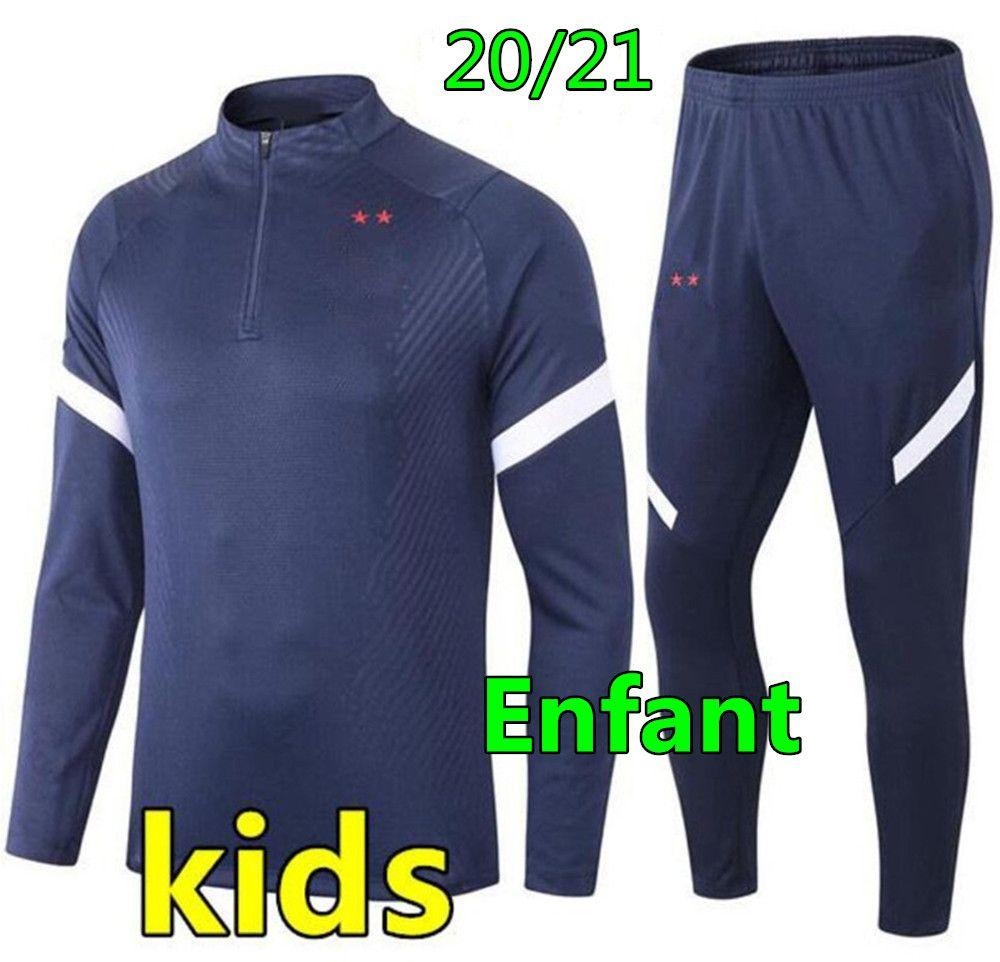 20 21 Kids Fútbol Chándal de fútbol Traje de Fútbol Boys 2020 2021 Niños Chándal de Fútbol Survetement Chandal