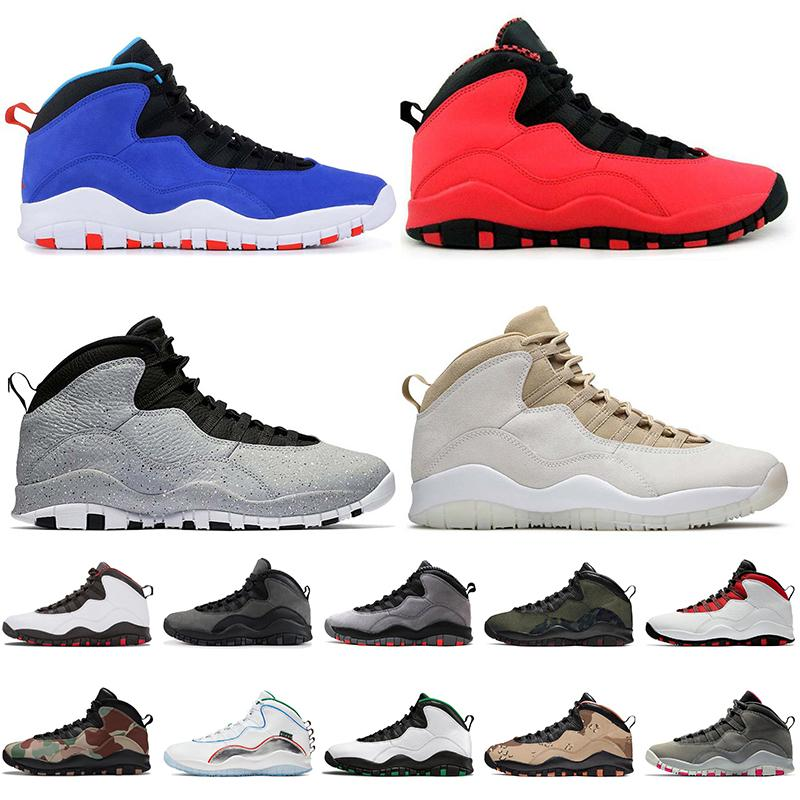 Top Fashion Jumpman mens 10 10s Basketball shoes Sneakers Tinker Racer Blue Cement 10th Anniversary Mens Trainers