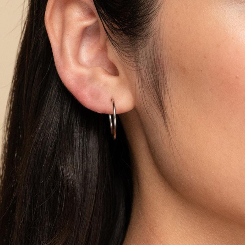 Boucles d'oreilles brillantes en acier inoxydable de nouvelle arrivée 316L 20 * 20mm rond or couleur or allergie boucles d'oreilles gratuites pour femmes