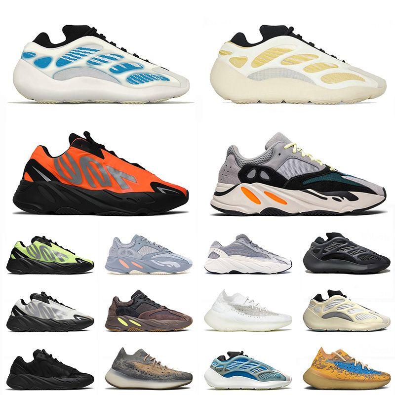yeezy yeezys boost 380 700 v2 v3 700 mnvn 2021 New Kyanite Kanye 700 Sport Runners Shoes Safflower Orange Azareth uomo donna Carbon Blue Oat West Mist Scarpe da ginnastica Sneakers