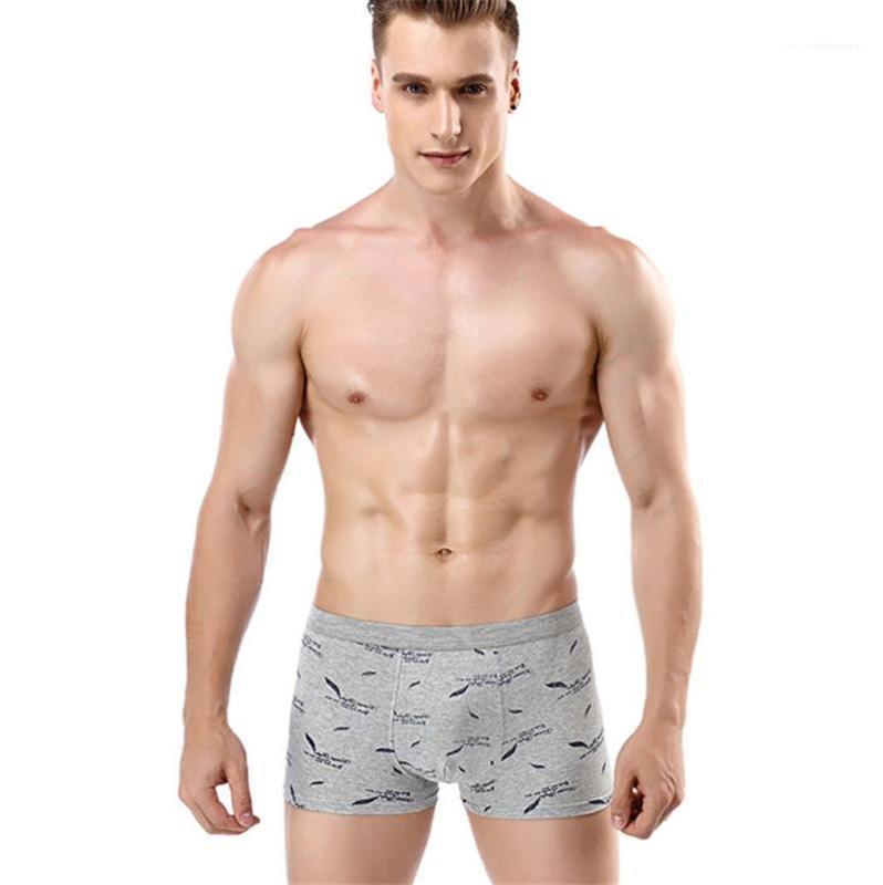 Underpants Mens Designer Underwear Moda Pena 3D Impresso Pugilistas Diários Casuais Plus Size Mens Luxo Boxers
