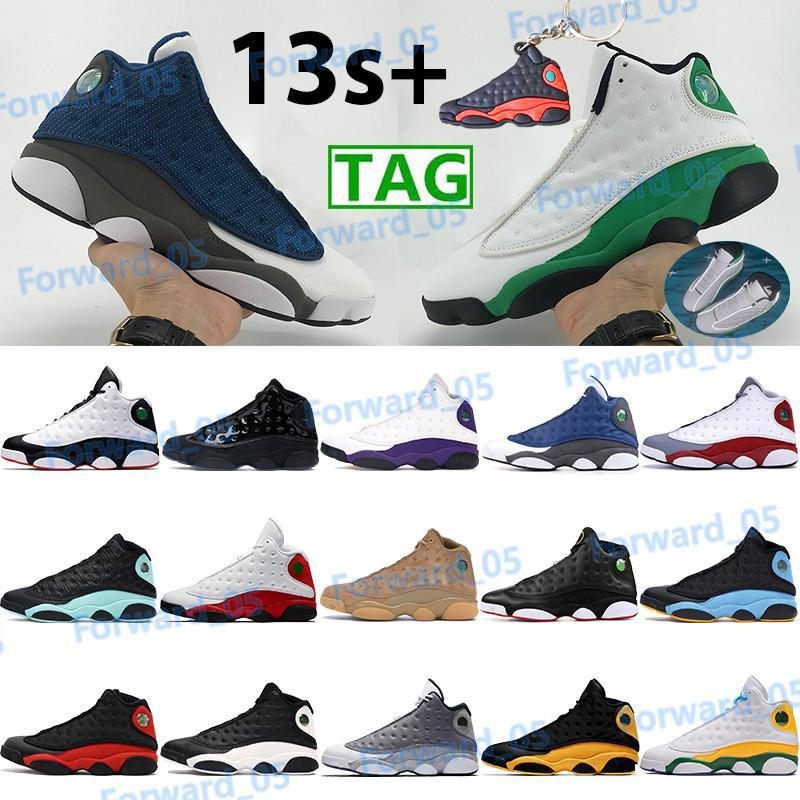 Mens 13 sapatos de basquete 13s esportes sapatilhas snowters tribunal roxo reverso ele recebeu jogo sorte verde gato preto criado treinadores de pé cinzento