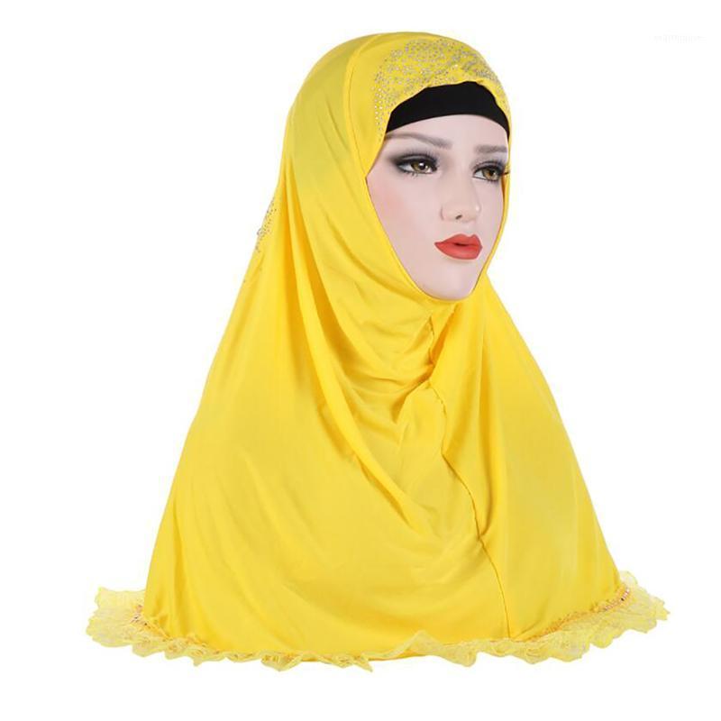Novedad arruga algodón mujer musulmanes chales sombrero turbante ropa cabeza envolver instantáneo foulard headwee scarf1