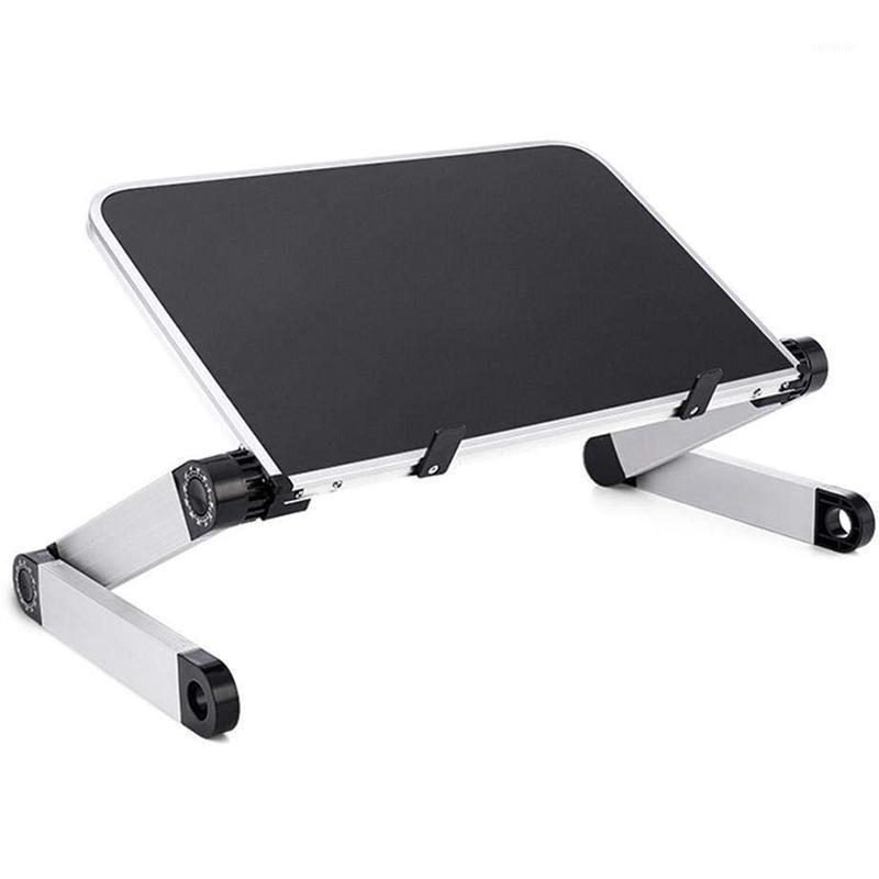 Tablet PC Soportes Portátil plegable Mesa de escritorio de la vuelta para la cama para la cama COÁFICO PICNIC BIENDO DE DESAYUNO AJUSTE LA ALTURA AJUSTABLE 360 GRUY