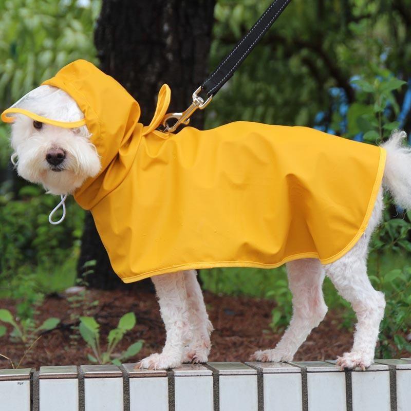 Dog Apparel 10 Sizes Large Raincoat Waterproof Rain Cloak Jumpsuit For Big Dogs Small Golden Retriever Rainwear Outdoor Pet Clothes